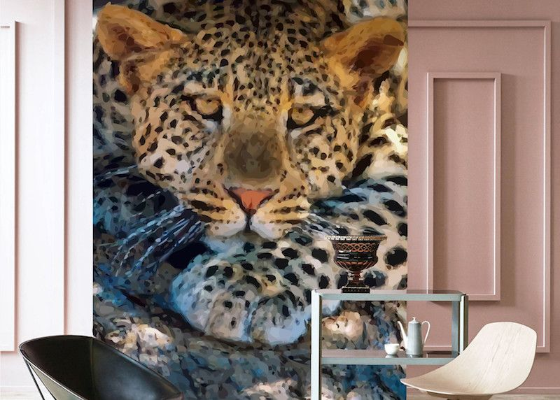 Behang Lying Leopard