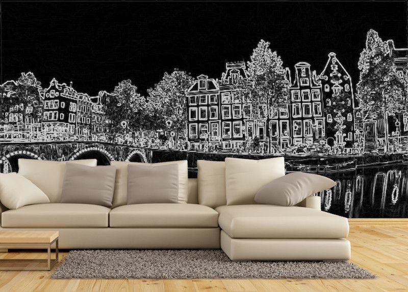 Wallpaper Amsterdam black