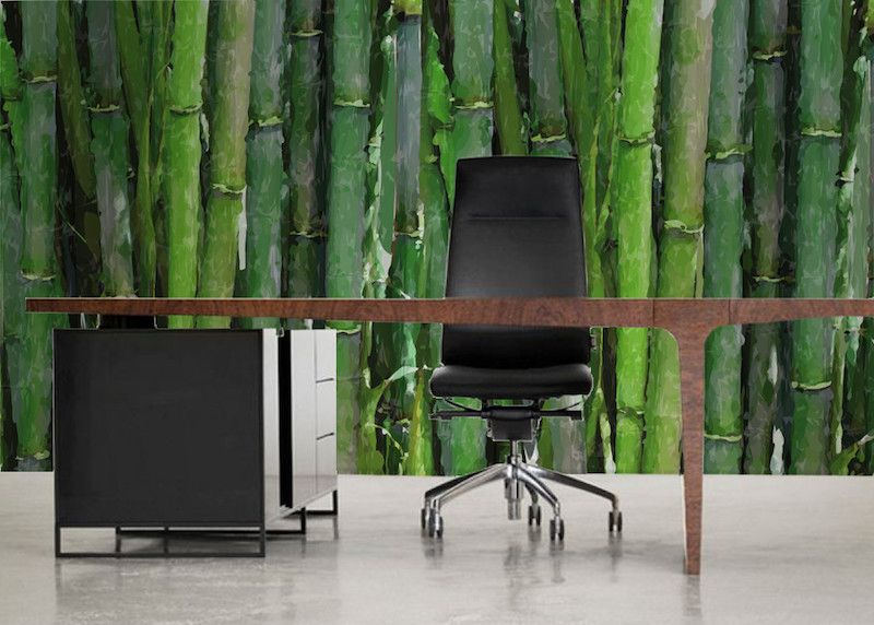 Behang bamboo