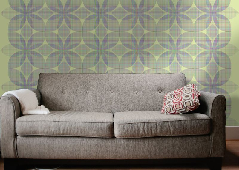 Behang met geometrica flower pattern